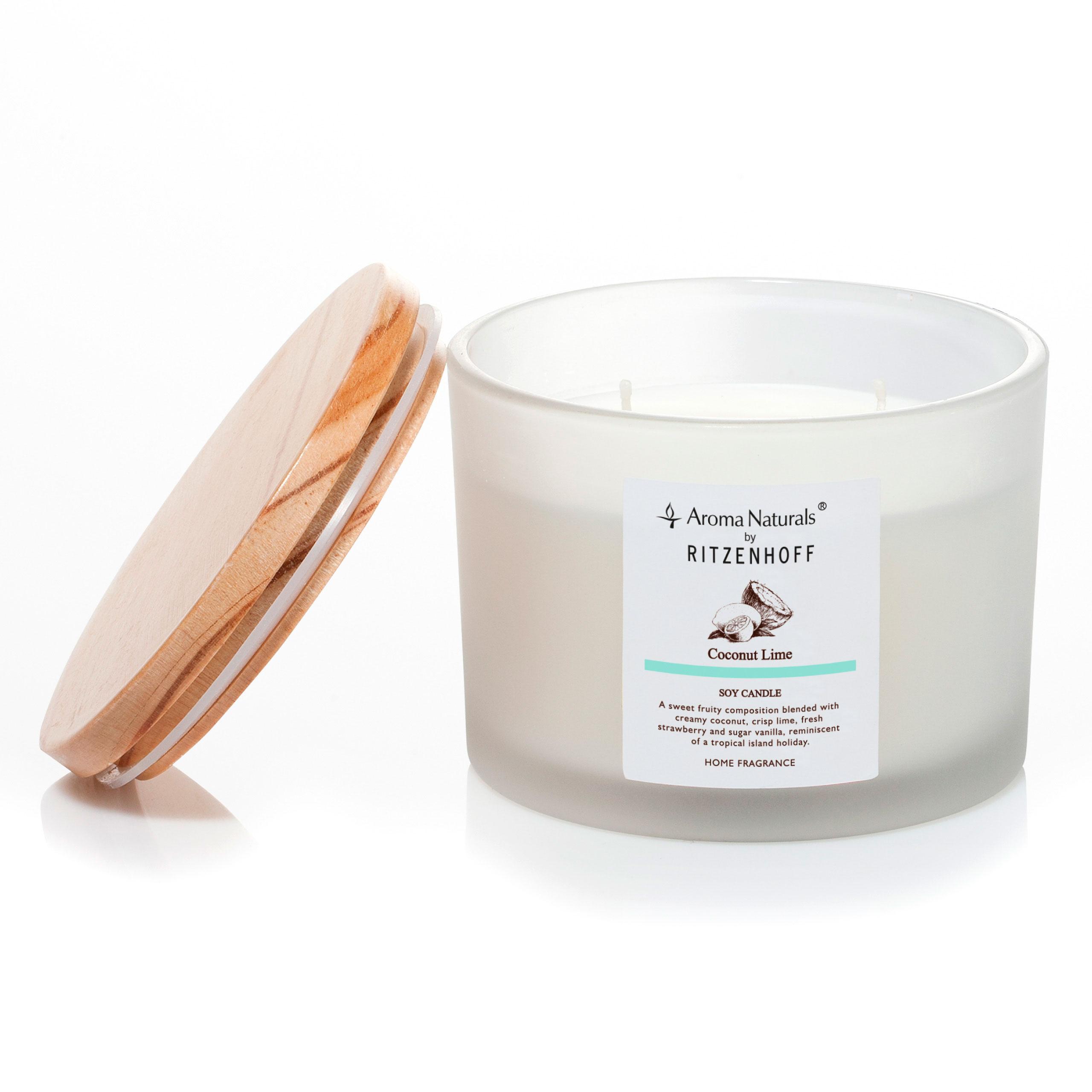 nature duftkerze 3 docht coconut lime von aroma naturals rh ritzenhoff de