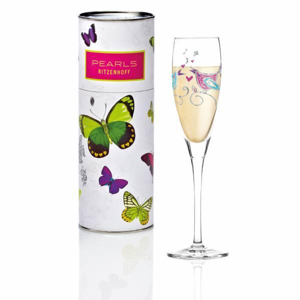 Pearls Design Proseccoglas von Marie Peppercorn