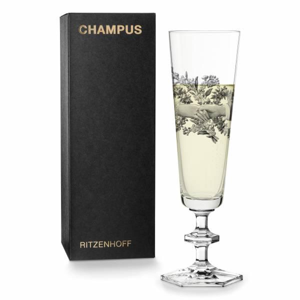 CHAMPUS Champagnerglas von Marlies Plank
