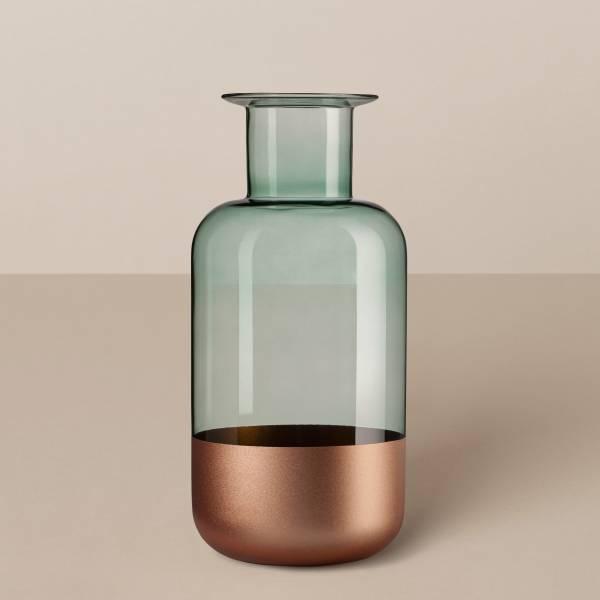 """Zylindervase """"Tube"""" in Bronze/Rauchgrün"""