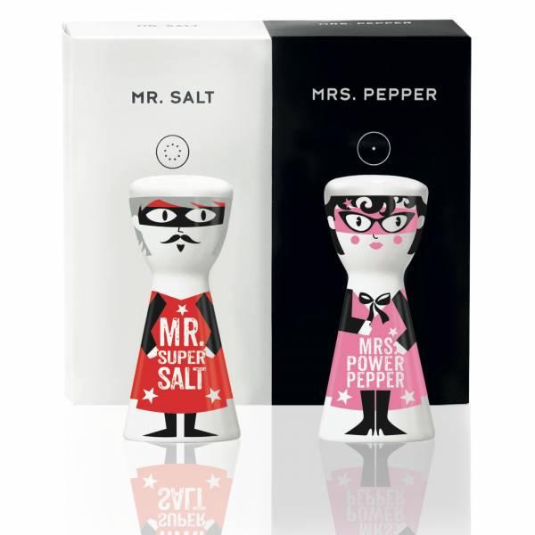 Mr. Salt & Mrs. Pepper Salz- und Pfefferstreuer-Set von Kathrin Stockebrand