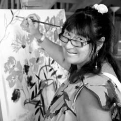 Lena Linderholm: Malerin und Designerin in Waxholm, Schweden