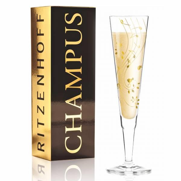 Champus Champagnerglas von Sibylle Mayer