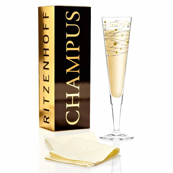 Champus Champagnerglas von Virginia Romo