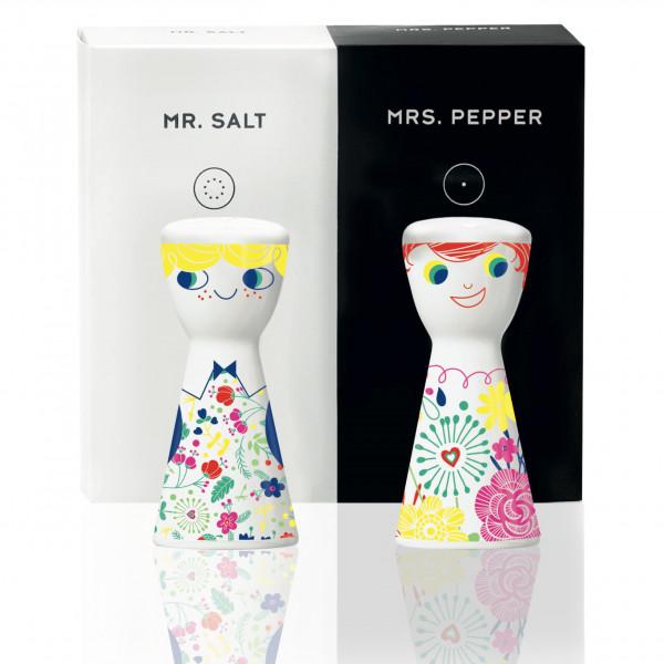 Mr. Salt & Mrs. Pepper Salz- und Pfefferstreuer-Set von Véronique Jacquart
