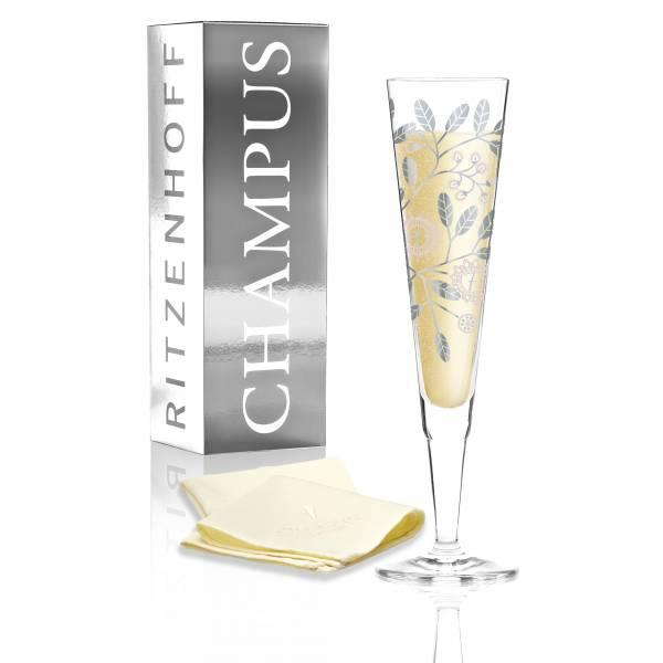 Champus Jahrgangs-Champagnerglas 2017 von Burkhard Neie