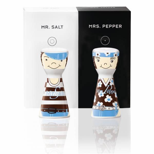 Mr. Salt & Mrs. Pepper Salz- und Pfefferstreuer-Set von Sandra Brandhofer
