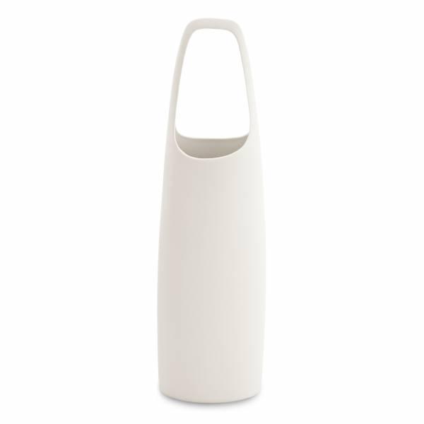 Koi Vase groß, weiß von Cheng-yu Lu