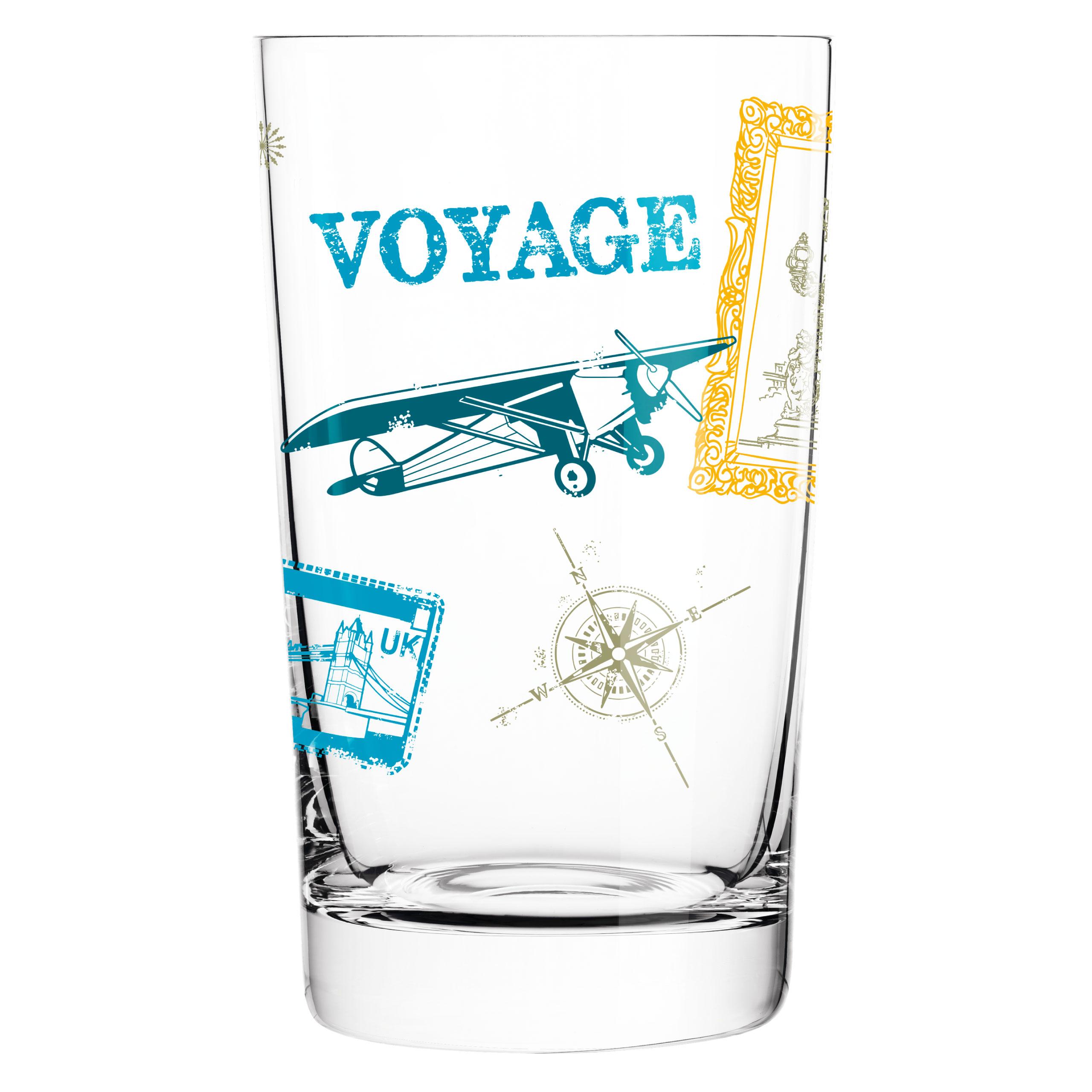 aus Kristallglas RITZENHOFF Everyday Darling Softdrinkglas von Sandra Brandhofer mit trendigen Dekoren 300 ml