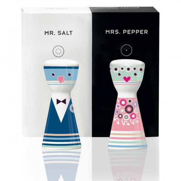 Mr. Salt & Mrs. Pepper Salz- und Pfefferstreuer-Set von Petra Mohr