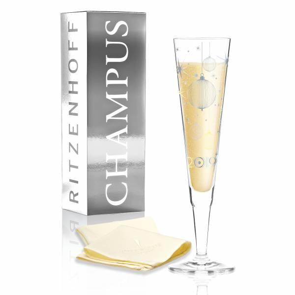 Champus Jahrgangs-Champagnerglas 2019 von Concetta Lorenzo