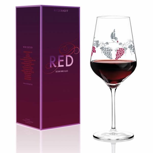 Red Rotweinglas von Concetta Lorenzo