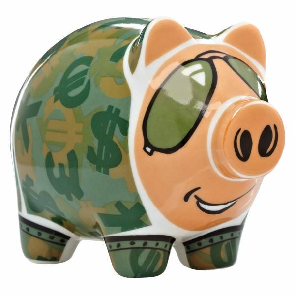 Mini Piggy Bank Sparschwein 3er Set von Potts