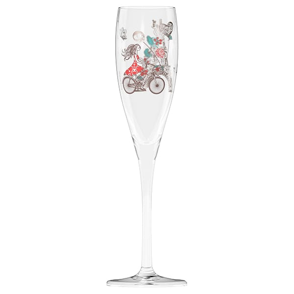 Pearls Edition Prosecco Glass by Alice Wilson